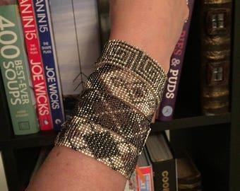 Women's bead loom bracelets x 4 in Silver