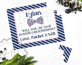 Junior Groomsman Gift Will You Be My Junior Groomsmen Puzzle Card Wedding Day Card, Asking Ring Bearer or Page Boy Invitation, Cards to ask