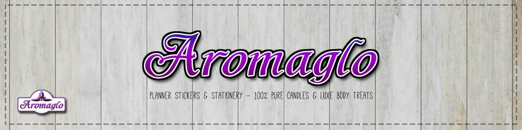 Stickers stationery pure eco candles body treats by aromaglo