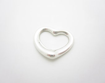 Tiffany & Co. Sterling Silver Elsa Peretti Small Open Heart Pendant