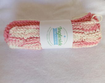 Pink Dishcloths, Pink Dishrags, White Dishcloths, White Dishrags