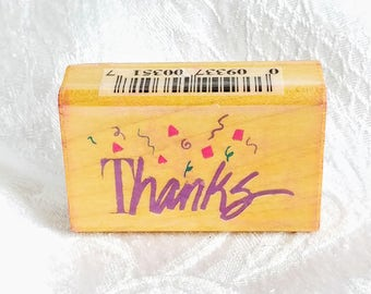 Mini Thank You Stamp Mini Hand Lettered Thank You Stamp
