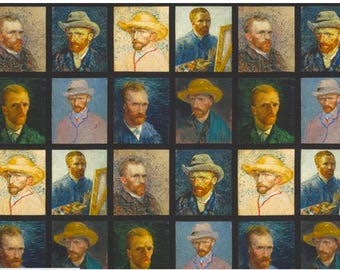 Portrait by Van Gogh Museum from Vincent Van Gogh from Robert Kaufman Fabric by the Panel