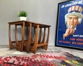 Stunning Retro G PLAN Nest of Tables  Vintage Teak Fresco Coffee End Side Lamp