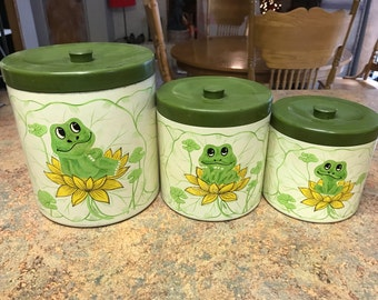 1978 Sears, Roebuck and Co. Frog Canister Set