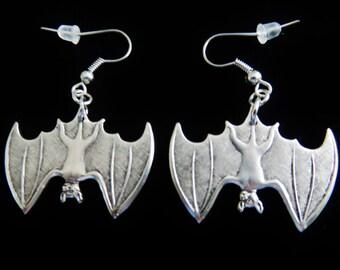Vintage Halloween Bat Earrings