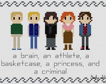 The Breakfast Club Cross Stitch Pattern