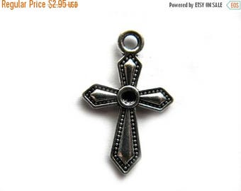 HALF PRICE 6 Silver Cross Charms - Crucifix