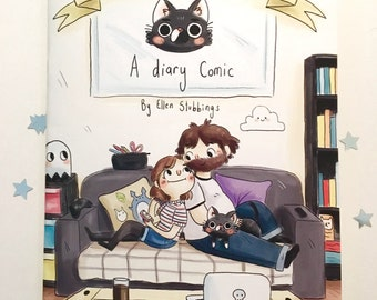 May Contain Cats Diary Comic Book, Volume One, indy comic, cute journal comic strips