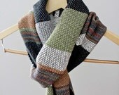 Woven Bamboo Scarf, Womens Scarf, Handwoven Accessory, Soft Scarf, Multicolor Scarf, Striped Scarf, Unique Scarf, Statement Scarf