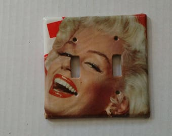 Marilyn Monroe double light switch cover