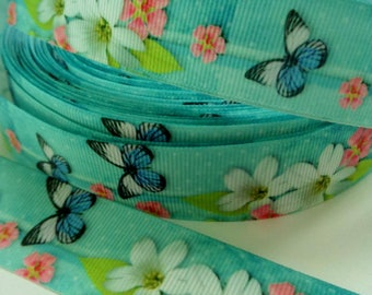 1'' -  25 mm Butterfly Grosgrain Ribbon
