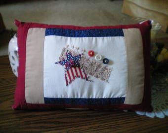Americana Star Accent Pillow~ Primitive American Pillow