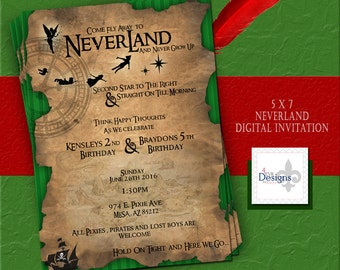 Neverland Invitation