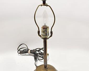 Brass Base Table Lamp 1940-50's Mid Century Vintage Lighting Night Table