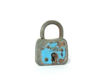 Burg Padlock, Antique Padlock, Lock, Mini Padlock, Rustic Lock, Lock And Key, German Padlock, Metal Lock, Skeleton Key, Steampunk Padlock
