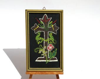 Handpainted Cross, Cross Wall Decor, Orthodox Cross, Cross Art, Crucifixion of Jesus, Catholic Decor, Religious Art, Orthodox Icon, Cross
