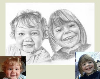 Father's Day gift, Father's Day, Gift for Dad, pencil portrait, personalised gift, hand drawn, Custom, Art Work,