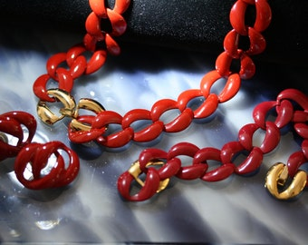 Really Red Vintage Parure from Napier
