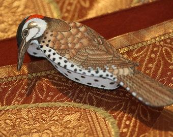 Lovely Vintage Porcelain Woodpecker Trinket Box