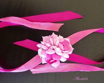 Baby Flower Wrist Corsage Baby Accessories Wrist Corsage Handmade Corsage Baby Girl Bracelet