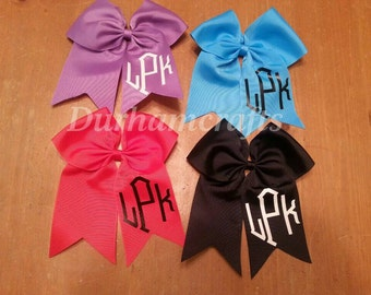 Solid Cheer Bows with Pony Tail holder on back