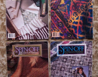 REDUCED - 1994 Full Set of Spin-Off Wool Magazine for Handspinners