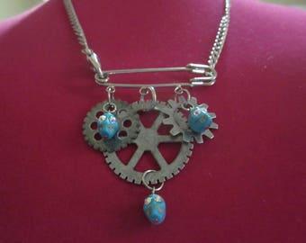 Gear Up Skull Necklace