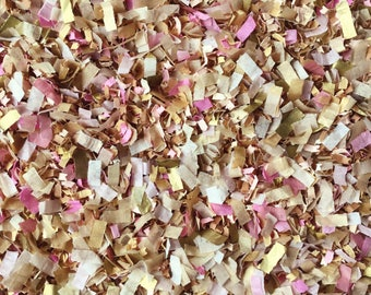 Vintage Pink Ivory Gold Confetti Biodegradable Tissue Paper Throwing InsideMyNest (25 Guests)