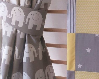 elephant curtains nursery curtains babyu0027s room curtains tie backs grey drapes elephant nursery decor grey nursery