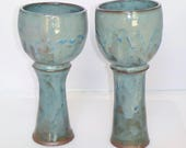 Turquoise Jewels Goblet Pair