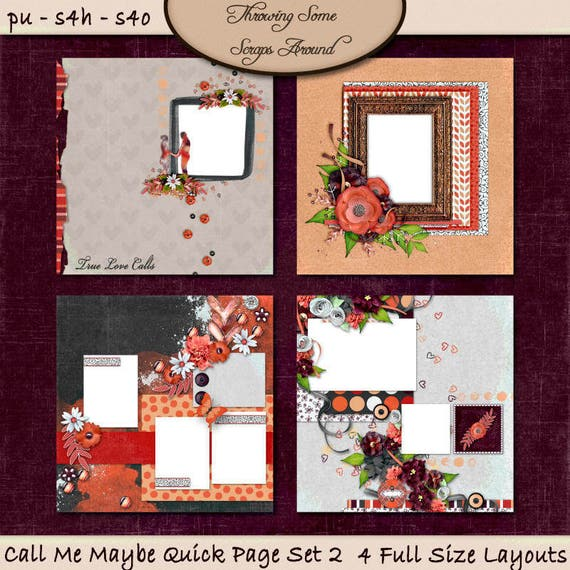 Digital Scrapbook: Call Me Maybe Quick Page Set 2
