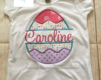 Easter egg shirt for boy or girl