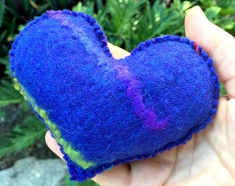 Have a Heart - blue stripe pin cushion
