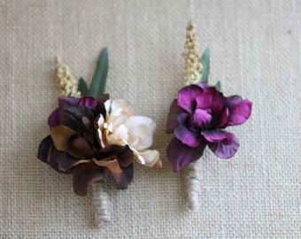 Rustic Men & Women's Coordinating Corsage and Boutonniere Set