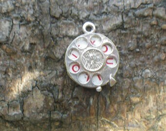 Vintage Sterling Silver Spinning I Love You Charm Pendant