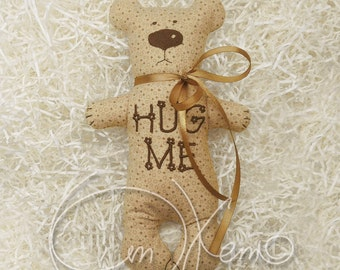 In the hoop MACHINE EMBROIDERY File - ITH hug Bear, Bear toy