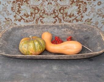 Antique Wooden Dough Bowl, Primitive home decor, Hand Carved Bowl, Rustic Home Decor, Antique cookware, Country Chic Decor, farmhouse bowl