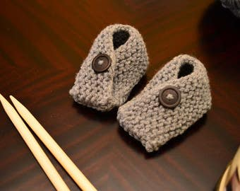 Button Baby Booties