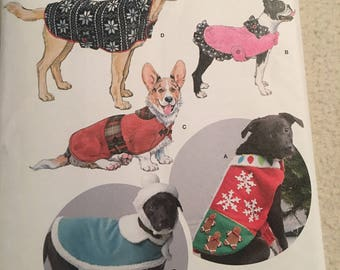 Simplicity dog coats and hats in three sizes