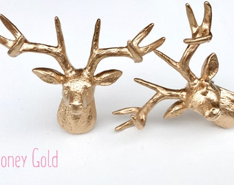 One Deer Knob - Drawer Pulls - Dresser Pulls - Animal Knobs