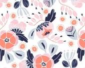 Trail Mix - Camping Florals(White) - Rae Ritchie - Dear Stella Designs
