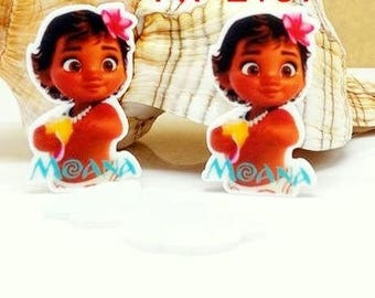 4 pcs. DISNEY BABY MOANA Planar flatback resins Hair bow centers. Abosolutely adorable! Stunning!