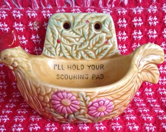 Vintage Rooster Scouring Pad Holder made by SCOTTY (Japan)