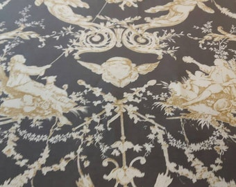 On Sale!! Gorgeous Toile de Jouy fabric 54 inches wide; french fabric toile; fabric 140 cm wide