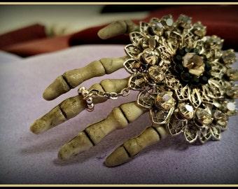 Rhinestone Skeleton hand