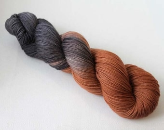 Chocolate Brownies, Hand dyed Merino Sock 75/25 sw merino/nylon