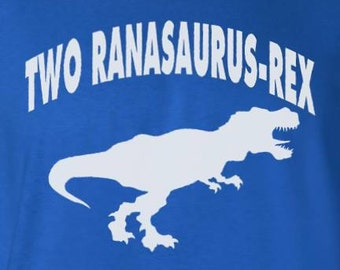 "Turning 2 Dinosaur Birthday Party - ""Two ranasaurus-Rex"" Toddler 2nd Birthday T-Shirt for Son or Daughter Gift for Two Year Old Boys Girls"