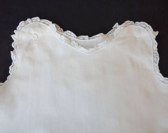 Vintage Lawn Christening Gown Petticoat - Handmade - Early 1900's