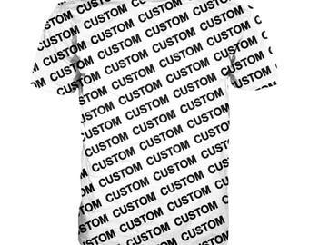 Custom T-shirt, Custom all over print shirt, Custom full print t-shirt